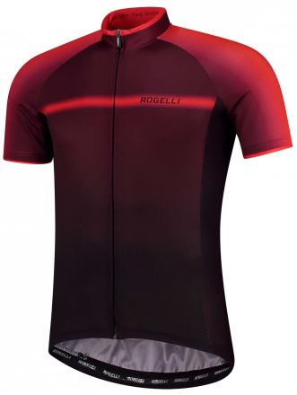 Rogelli DEX Jersey | BLACK/BORDEAUX/RED