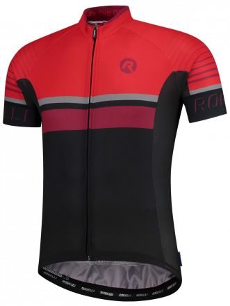 Rogelli Hero Jersey | BLACK/RED/BORDEAUX