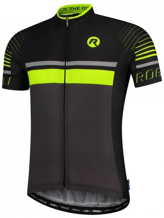 Rogelli Hero Jersey | GRAY/BLACK/FLUOR