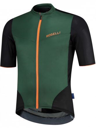 Rogelli Charge SS Jersey | GREEN/ORANGE