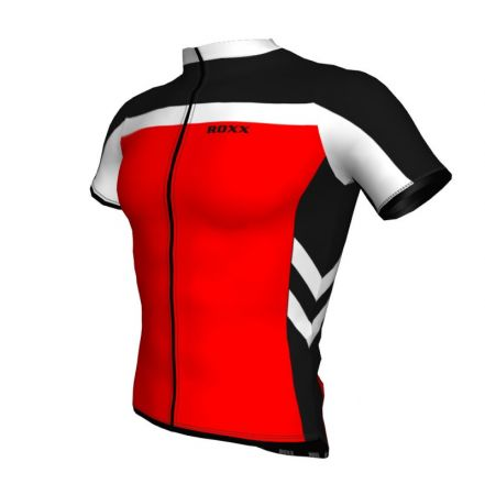 ROXX Cycling Shirt Bike Riding Jersey | CZERWONA
