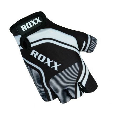 Roxx Cycling Gloves Gel Padded | CZARNO-BIAŁE