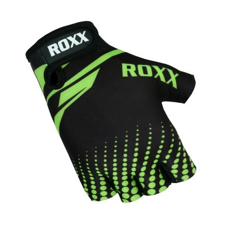Roxx Cycling Gloves Gel Padded | CZARNO-ZIELONE