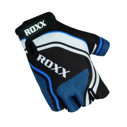 Roxx Cycling Gloves Gel Padded | CZARNO-NIEBIESKIE