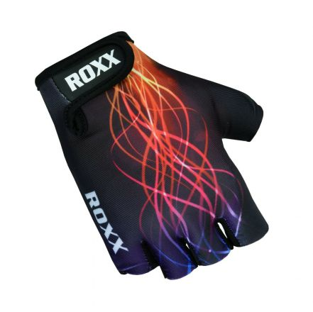Roxx Cycling Gloves Gel Padded | CZARNO-WIELOKOLOROWY