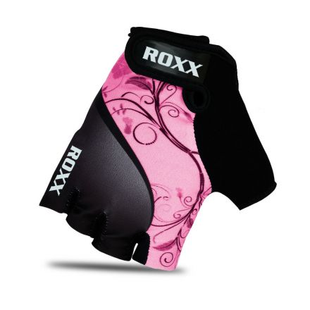 Roxx Cycling Gloves Gel Padded | CZARNO-RÓŻOWY