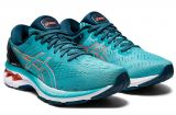 Asics Gel Kayano 27 | TECHNO CYAN/SUNRISE RED