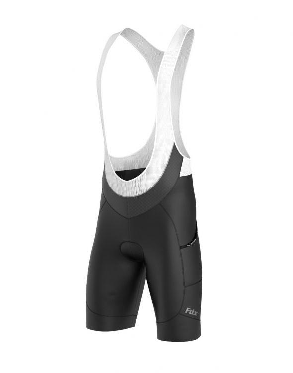 FDX Plain Bib Shorts - Męskie spodenki kolarskie
