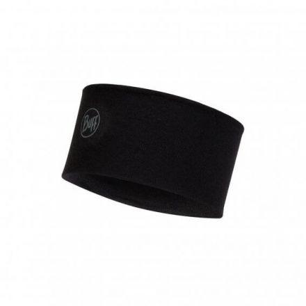 Buff Midweight Merino Wool Headband Solid Black