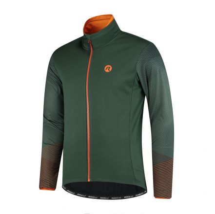 Rogelli Wire Winterjacket | GREEN/ORANGE