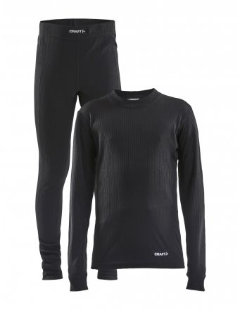 Craft Core Dry Baselayer Set JUNIOR | BLACK