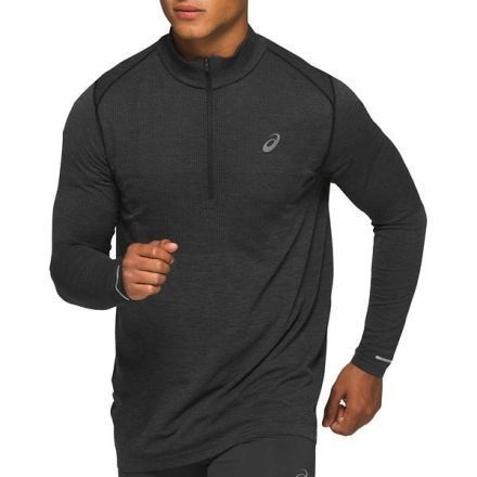 Asics Race Seamless 1/2 Zip | CZARNA - męska bluza do biegania