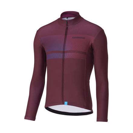Shimano Team Long Sleeve Jersey | WINE