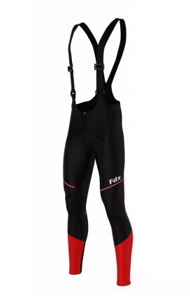 FDX Wind Stopper Thermal Gel Bib Tights | RED