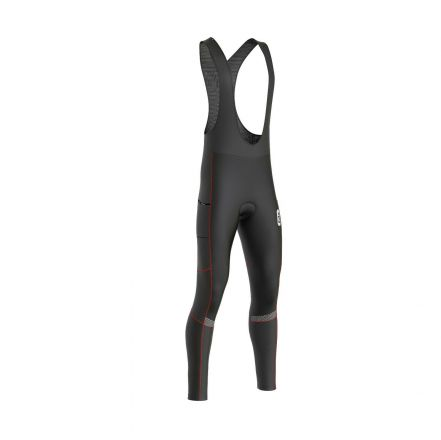 FDX All Day Winter Thermal Bib Tights | BLACK/RED
