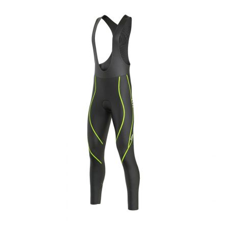 FDX Winter Thermal Reflector Bib Tights | BLACK/YELLOW