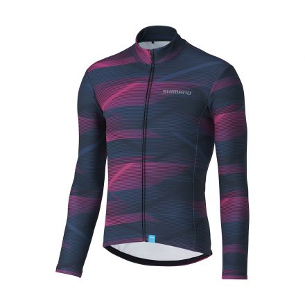 Shimano Team Long Sleeve Jersey | NAVY