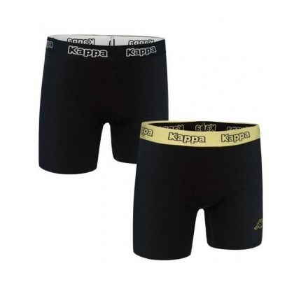 Kappa Boxers 2-pack | BLACK/GREEN ACID