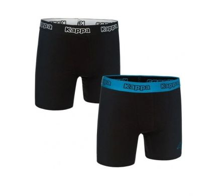 Kappa Boxers 2-pack | BLACK/BLUE