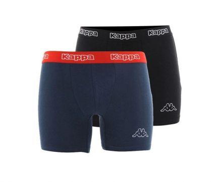 Kappa Boxers 2-pack   BLACK/BLUE