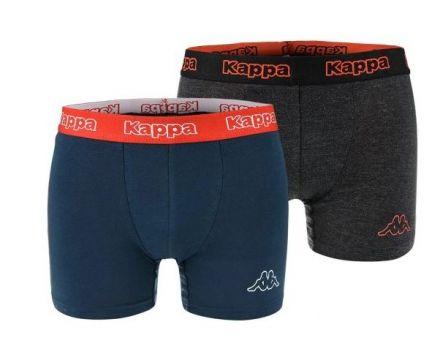 Kappa Boxers 2-pack   GREY/BLUE