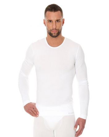 Brubeck T-Shirt LS | BIAŁY