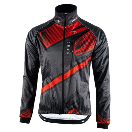 Deko Winter Cycling  Jacket MNK09 | CZARNO CZERWONA