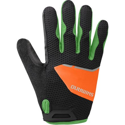 Shimano Explorer Long Gloves | BLACK/ORANGE