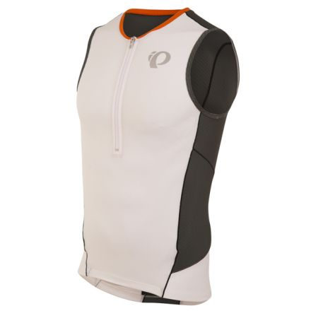 Pearl Izumi Elite Pursuit Tri Singlet | White/Shadow Grey