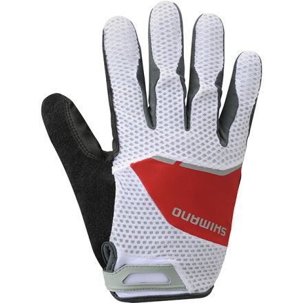 Shimano Explorer Long Gloves | LAVA/RED