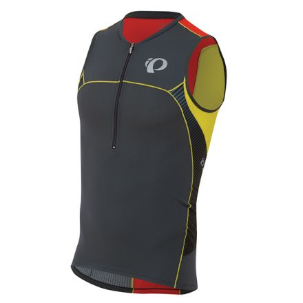 Pearl Izumi W Elite In-R-Cool Tri Singlet | Shadow Grey/Manadrin Red