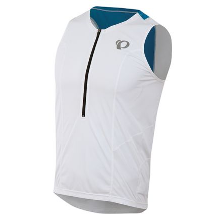 Pearl Izumi Select Tri Relaxed SL Jersey | White/Brilliant Blue