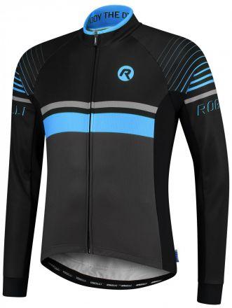 Rogelli Hero Cycling Jersey LS |  GREY/BLACK/BLUE