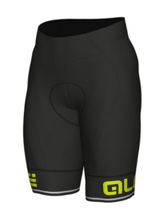 Ale Solid Corsa SHORTS | BLACK/YELLOW