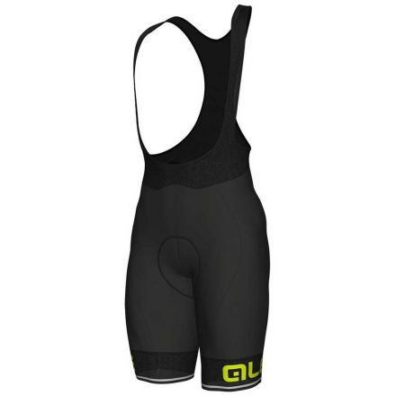 Ale Solid Corsa BIBSHORTS | BLACK/YELLOW