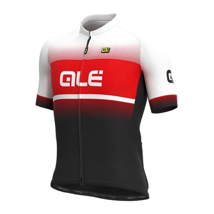 Alé Solid Jersey Blend | BLACK/RED/WHITE