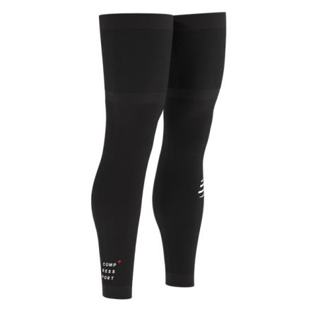 Compressport Full Legs | CZARNE