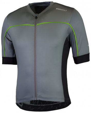 Rogelli Passo Cycling Jersey SS | GREY/GREEN