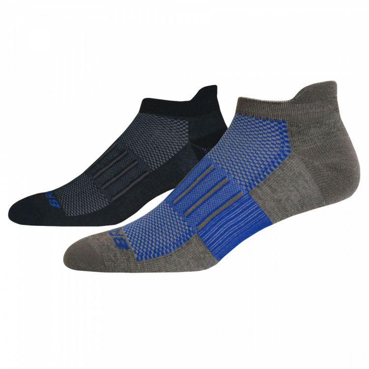 Brooks Ghost Midweight Socks | BLACK/GREY ultralekkie skarpety do biegania 741543091