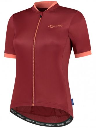 Rogelli LDS Essential Jersey SS | BORDEAUX/CORAL