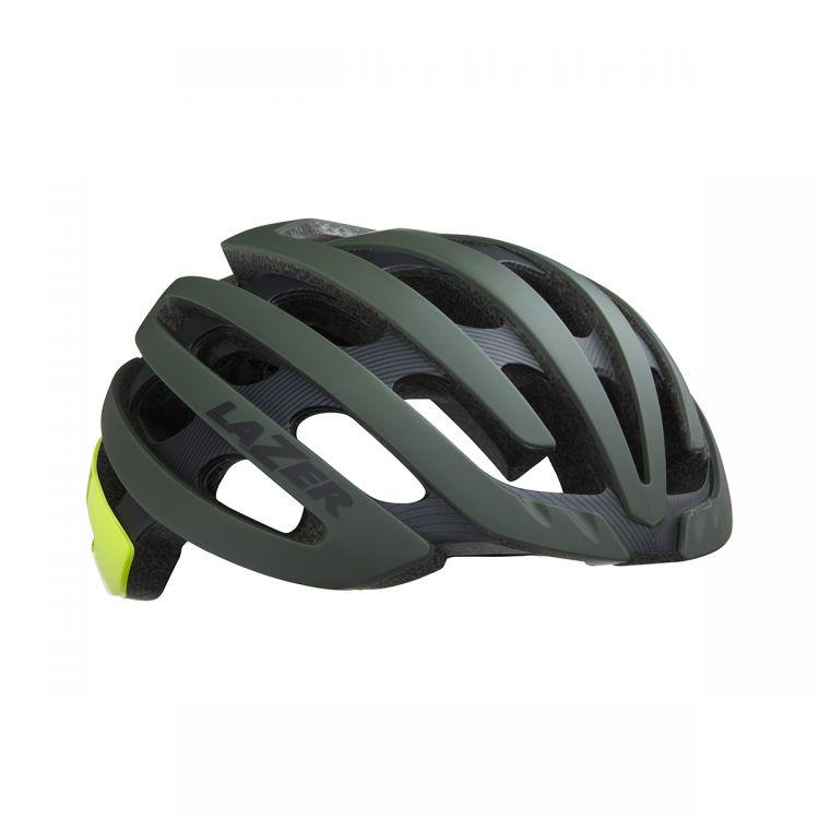 Lazer Kask Z1 CE | Matte Dark Green F-Yellow - Ultralekki kask rowerowy na szosę.