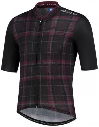 Rogelli Style Jersey SS | BLACK/BORDEAUX