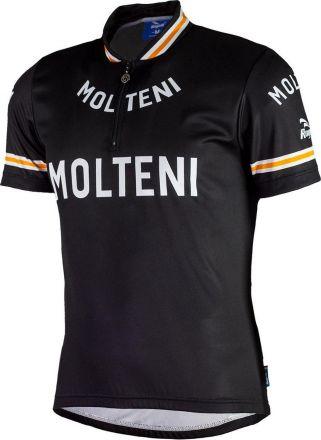 Rogelli Molteni Cycling Jersey SS | BLACK