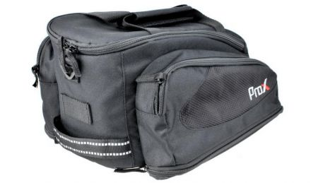 ProX  sakwa na bagażnik trzykomorowa | Czarna
