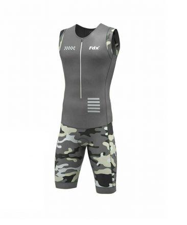 FDX Camo Triathlon Suit | SZARO/CZARNY