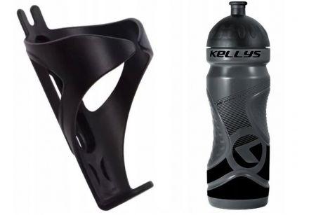 Set Kellys Sport 0,7 + Praxx Bottle Cage | BLACK