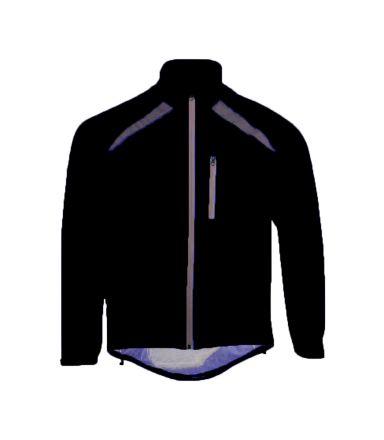 Roxx Cycling Waterproof Jacket | BLACK  High Visible
