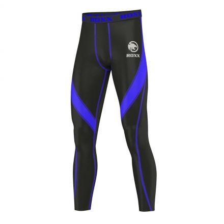 ROXX Men Compression Trousers | CZARNO NIEBIESKIE