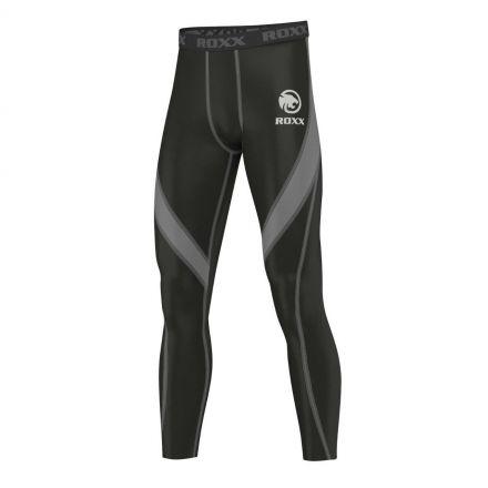 ROXX Men Compression Trousers | CZARNO SZARE