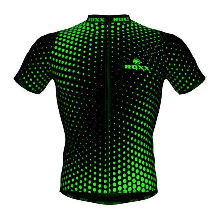 ROXX Cycling Jersey | CZARNO-ZIELONA